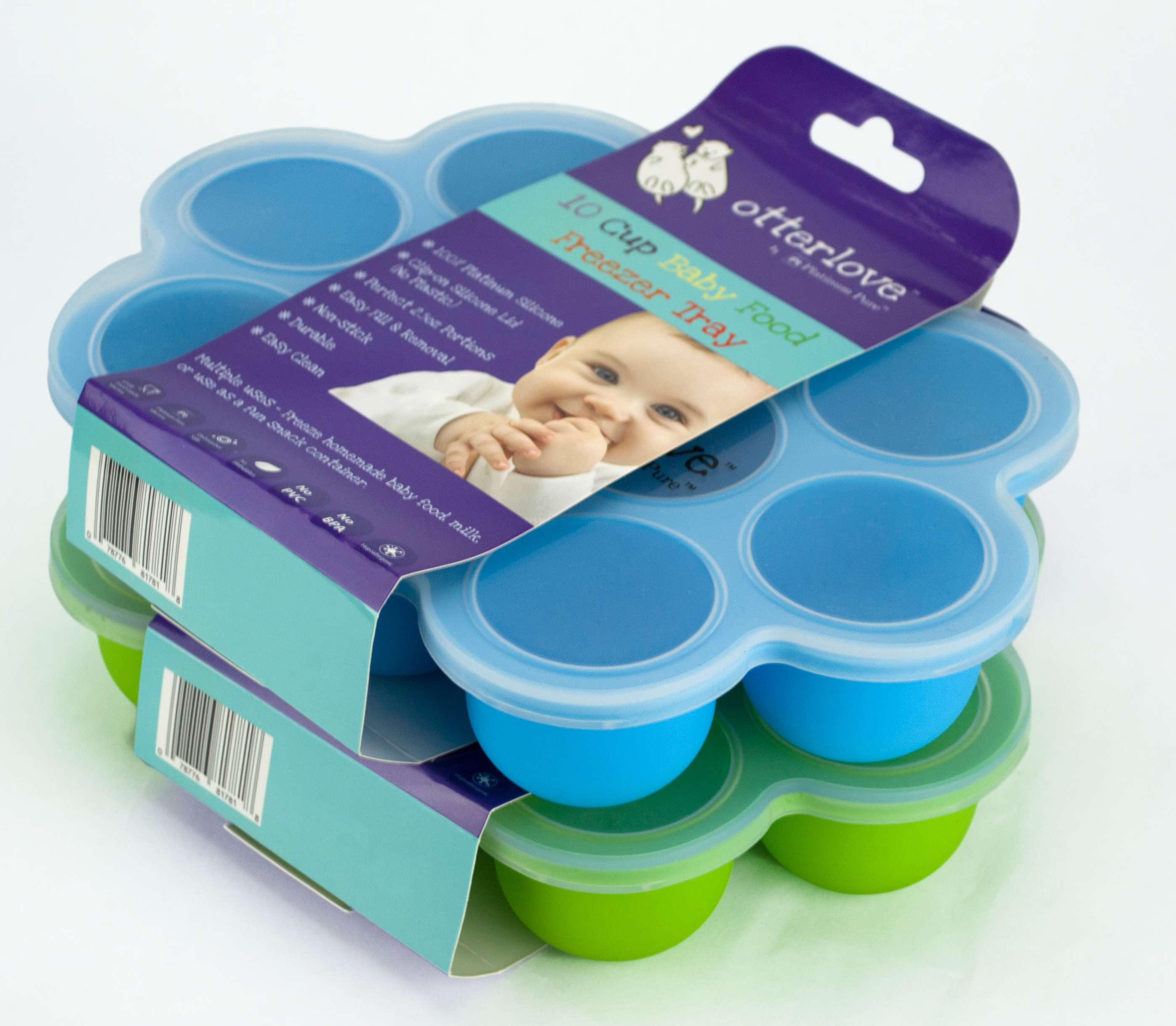 baby food freezer tray 2 5oz individual portions 10 cups blue