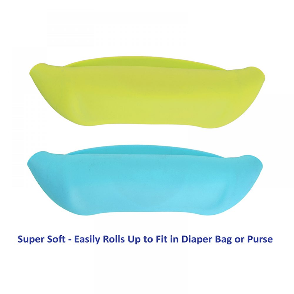 yellow-blue-silicone-bib-rolled-up
