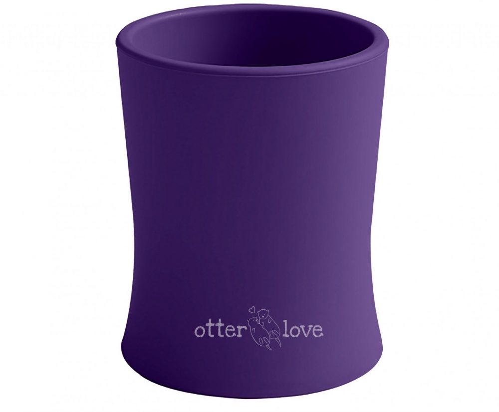 natural grip silicone baby cup tiny toddler training cup - violet